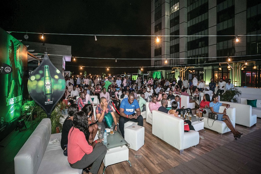 A typical football viewing centre experience in Nigeria