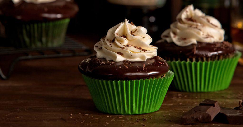 Gooey Chocolate Stout Cupcakes