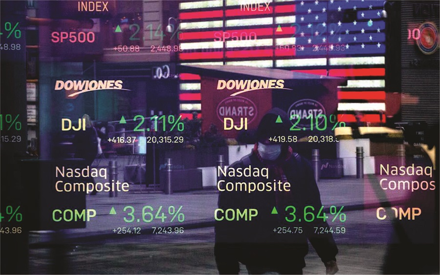 DOW drops amid gains in Apple and Microsoft