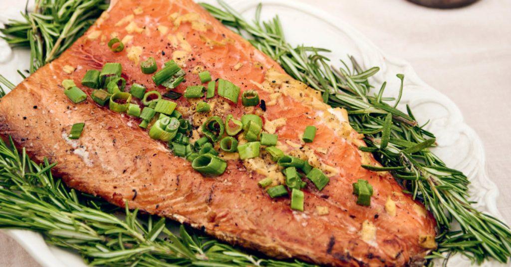 Grilled Cedar-Plank Salmon